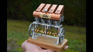 Moteur Stirling 4 cylindres en ligne - 4 in line Stirling engine