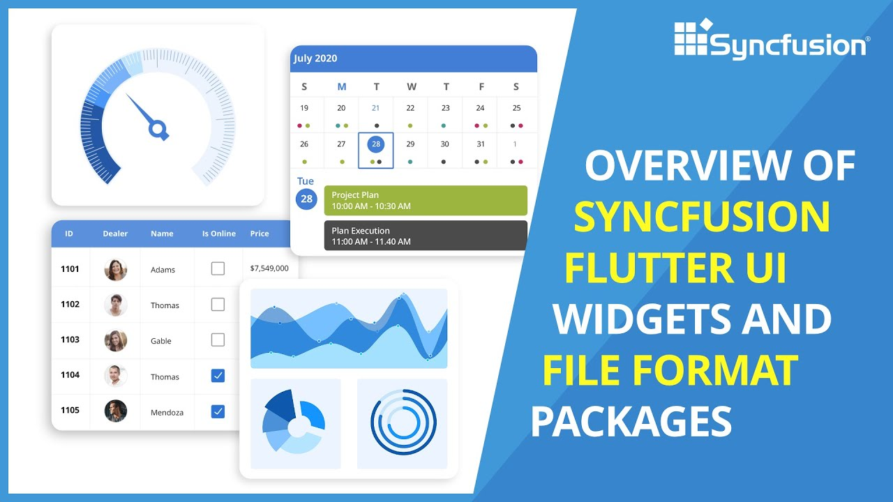 Overview of Syncfusion Flutter UI Widgets and File Format Packages