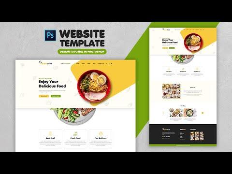 How To Create A Food Website Design Template | Adobe Photoshop Tutorial | Speed Art | Grafix Mentor