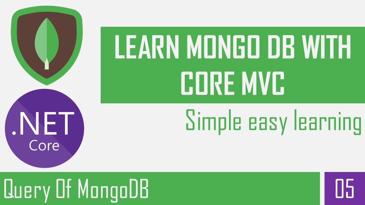 Query of MongoDB | MongoDB Command | MongoDB | Asp.Net Core Mvc