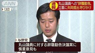 丸山議員の辞職勧告 維新が立憲に共同提出呼びかけ(19/05/16)
