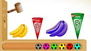 Learn Colors Kids With Ice Cream and Fruits Banana - Funny Videos Nursery Rhymes For Kids