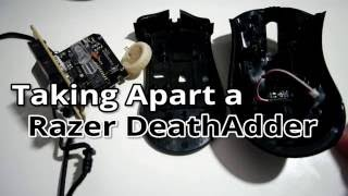 Razer DeathAdder disassembly - Cleąning Internals and Fixing Scroll Wheel Problems