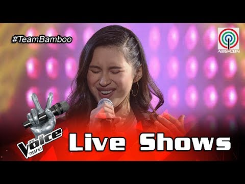 The Voice Teens Philippines Live Show: Isabela Vinzon - What A Girl Wants