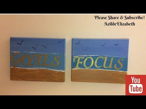 DIY Canvas Painting with a Quote