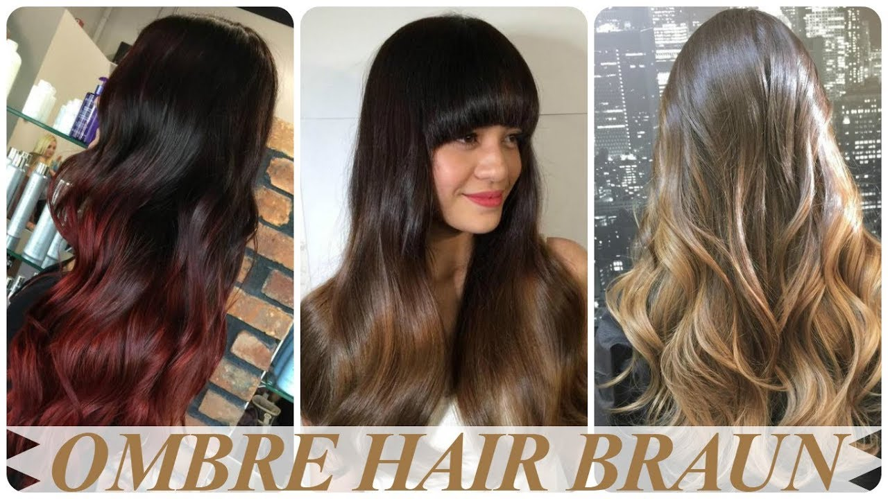 Schöne Frisuren Ombre Hair Braun Youtube