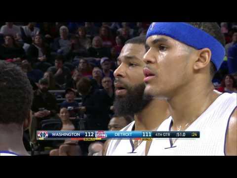 Washington Wizards vs Detroit Pistons | January 21, 2017 | NBA 2016-17 Season