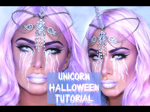 Halloween Unicorn makeup tutorial! - YouTube