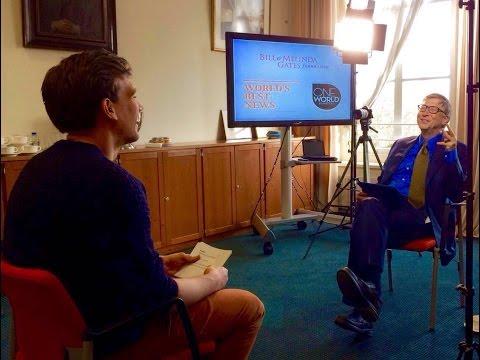 Lucas praat met de rijkste man: Bill Gates