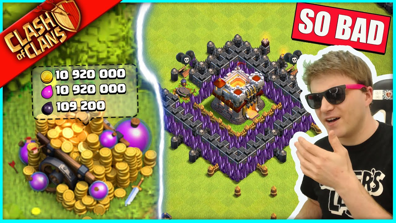 I FINALLY FOUND MY WORST CLASH OF CLANS BASE AGAIN, AND I IMMEDIATELY REGRET IT