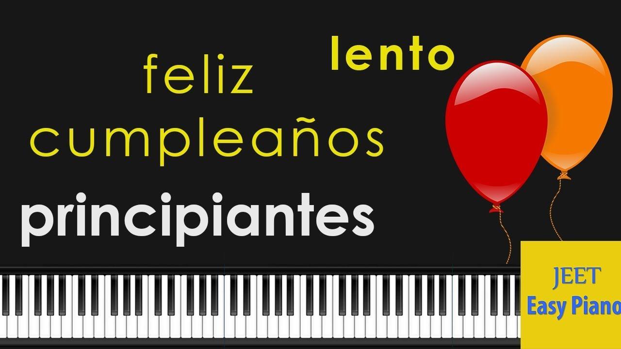 Feliz cumpleanos en el piano notas