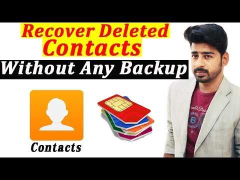 How Can We Recover Deleted Contacts From Android Phone Without Root And Backup 2019 | Urdu Hindi |