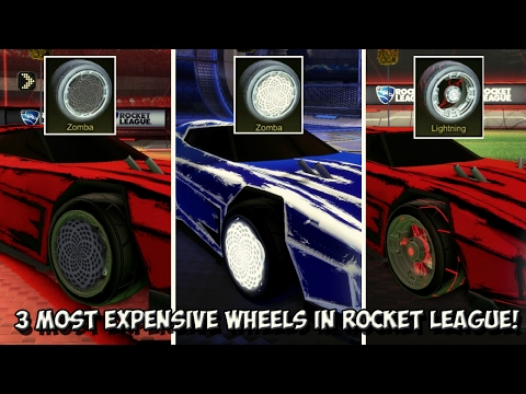 THE 3 MOST VALUABLE/EXPENSIVE WHEELS IN ROCKET LEAGUE (Excluding The Goldstone Alpha Wheels)