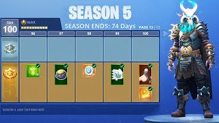 FORTNITE: SEASON 5 TIER 100 BATTLE PASS SKINS & NEW MAP GAMEPLAY! (New Fortnite Season 5 Update)