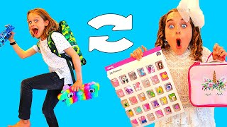 TRICK THE OTHER PERSON SCHOOL SUPPLIES SWITCH UP 2 Challenge w/ The Norris Nuts