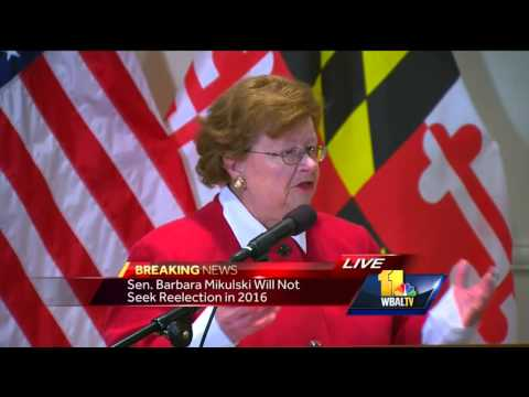 Sen. Mikulski announces retirement