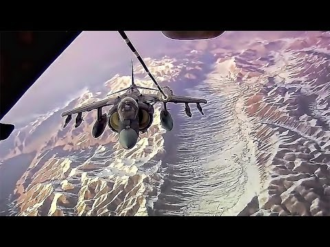 Harrier Air-To-Air Refueling Over Afghanistan