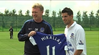 Kevin Mirallas Unveiled by Everton