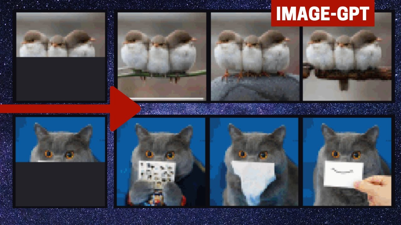 This AI Can Generate The Pixels Of Half Of A Picture From Nothing Using A NLP Model