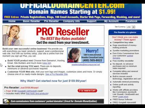Become a Domain Name Reseller!    Make Money Selling Domain Names!