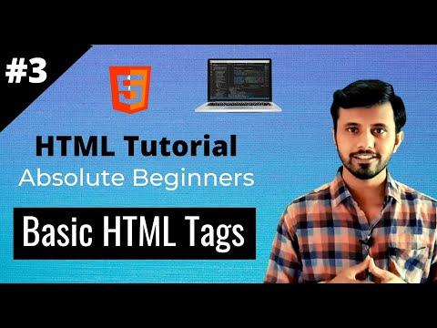 Basic HTML Tags | HTML Tutorial #3