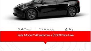 Tesla Model Y Already has a $1000 Price Hike