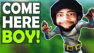 COME HERE BOY! | AGGRESSIVE PLAYS | HIGH KILL FUNNY GAME- (Fortnite Battle Royale)