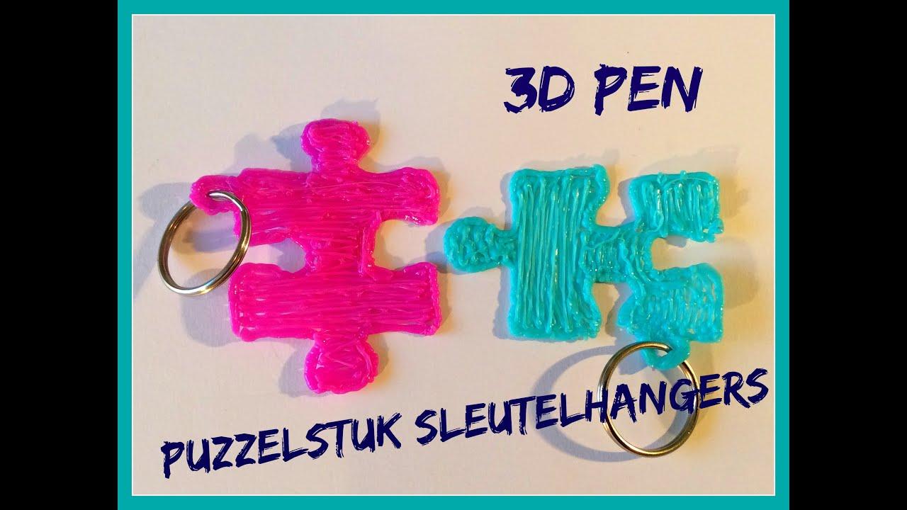 Diy puzzelstuk sleutelhangers maken met 3d pen viyoutube - Hoe een kamer van een kind te versieren ...