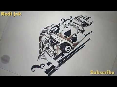 Desain Tato Di Dada Kren Youtube