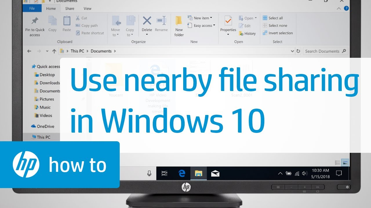 How To Share Files Using Nearby Sharing in Windows 10 | HP Computers | HP