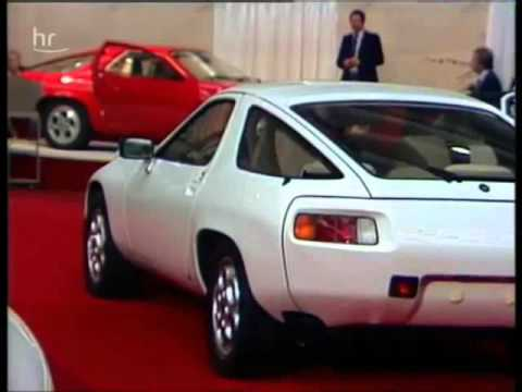 1977 Frankfurt IAA, International Motor Show, great early Porsche 928 footage (German commentary)