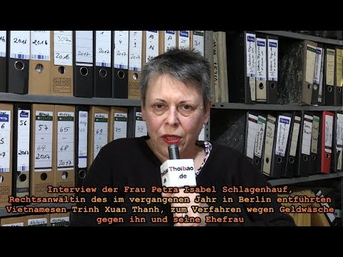 Interview der Frau Petra Isabel Schlagenhauf, Rechtsanwältin ( 28.4.2018 )