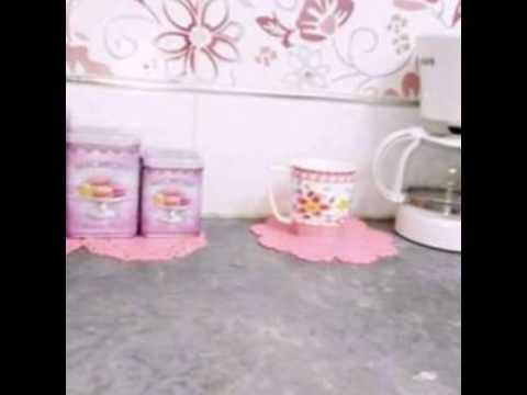 مطبخ عروسة باللون الزهري رائعة Youtube