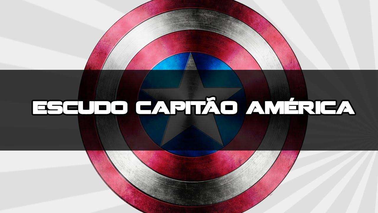 Tutorial Photoshop Criando Escudo Do Capitao America Youtube