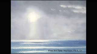 How to Paint a Seascape Oil Sketch - Narrated
