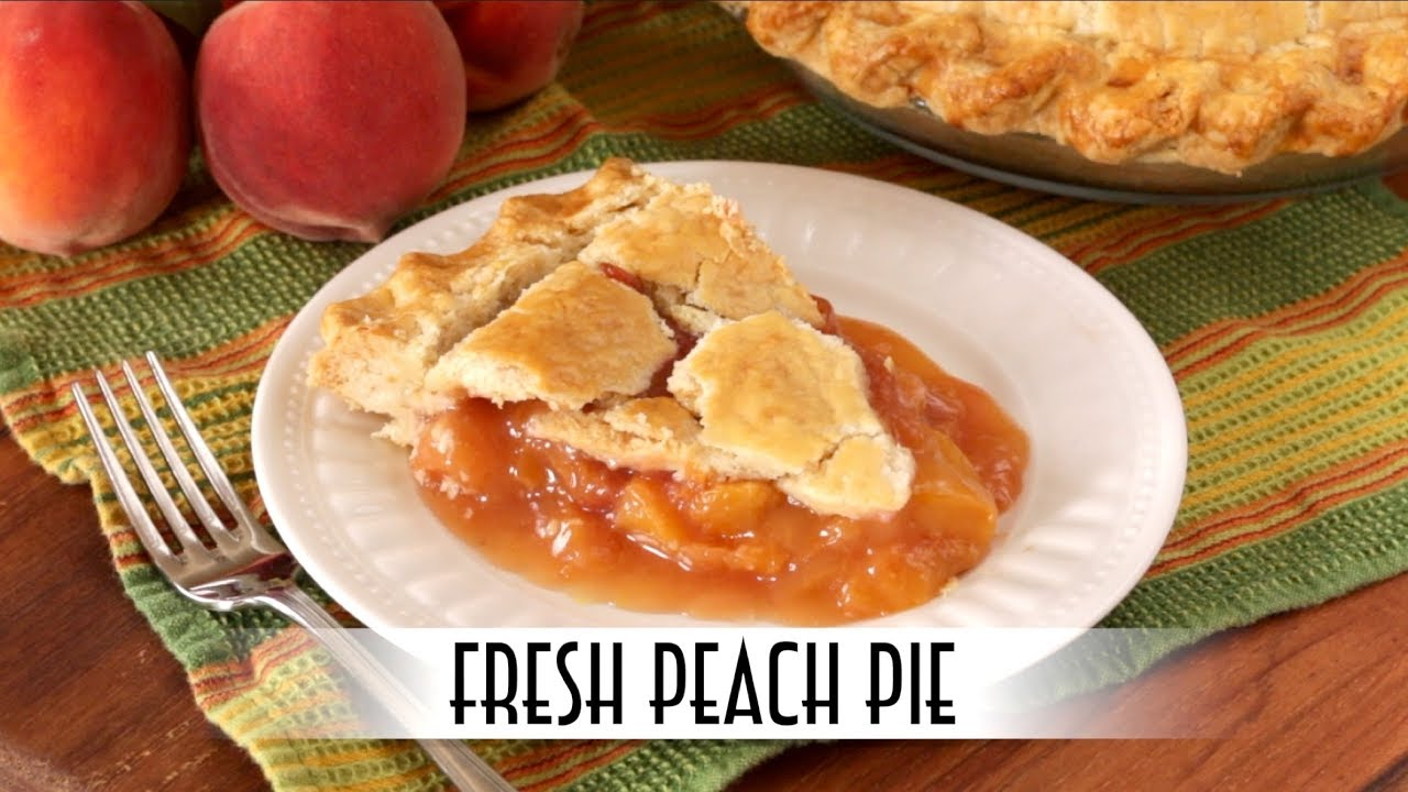 Fresh Peach Pie | with Lard and Butter Crust