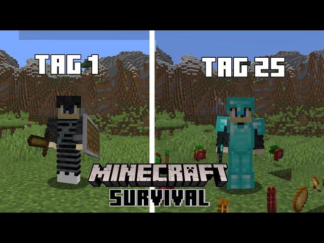 Ich habe 25 TAGE MINECRAFT SURVIVAL gespielt/ Und das ist passiert!-Minecraft Survival Deutsch
