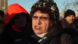 Митинг в поселке Омский