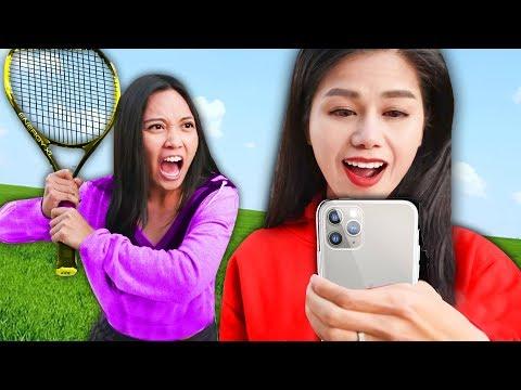 regina-vs-spy-ninjas!-hacker-tennis-battle-challenge-of-unexpected-trick-shots-for-secret-files