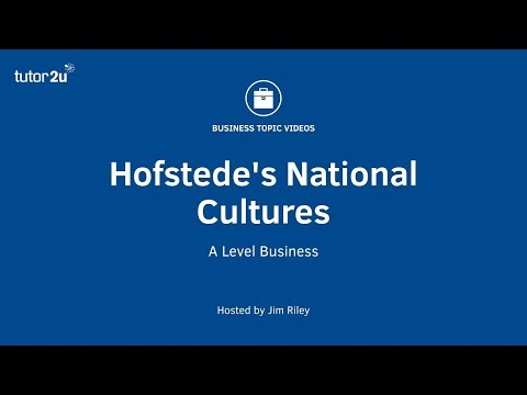 Hofstede's Model Of National Cultures