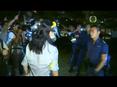 Hong Kong Police Assault Pro-Democracy Protester