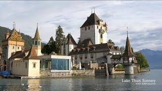 Schloss Oberhofen castle, Lake Thun SWITZERLAND トゥーン湖