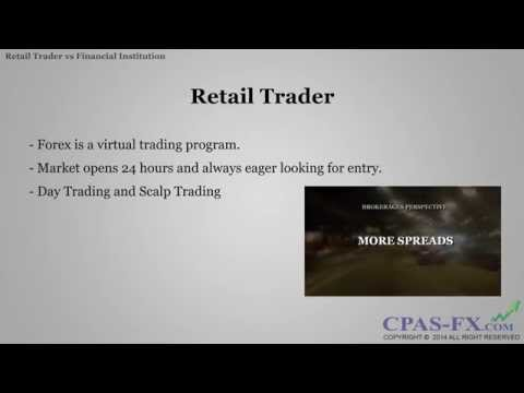 Retail Trader vs Financial Institution in Forex Trading