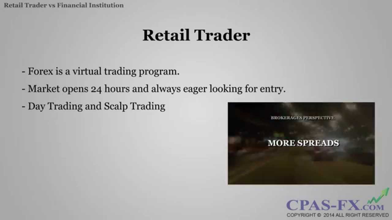 Financial institutions forex trading