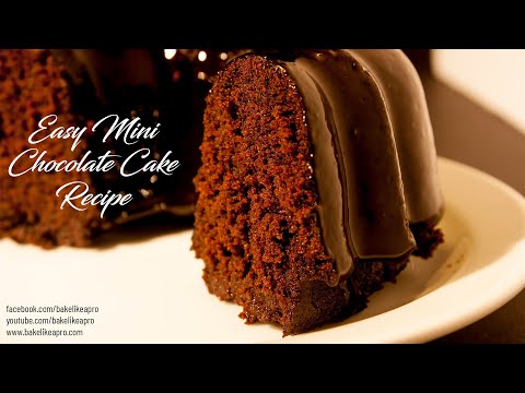 Easy Mini Chocolate Cake Recipe   Super Moist Recipe 4K