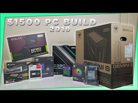 $1500 Aus Gaming PC Build August 2019 / Benchmarks on Fortnite-Apex Legends-Overwatch-CSGO