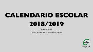 Aragón Noticias (31/05/18 Aragón Radio) Calendario Escolar 2018-2019