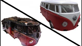 Restoration of model cars Volkswagen T1  Реставрация и ремонт модельки авто Volkswagen T1  VW T1
