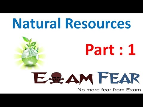 Natural Resources part 1 (Introduction) CBSE class 9