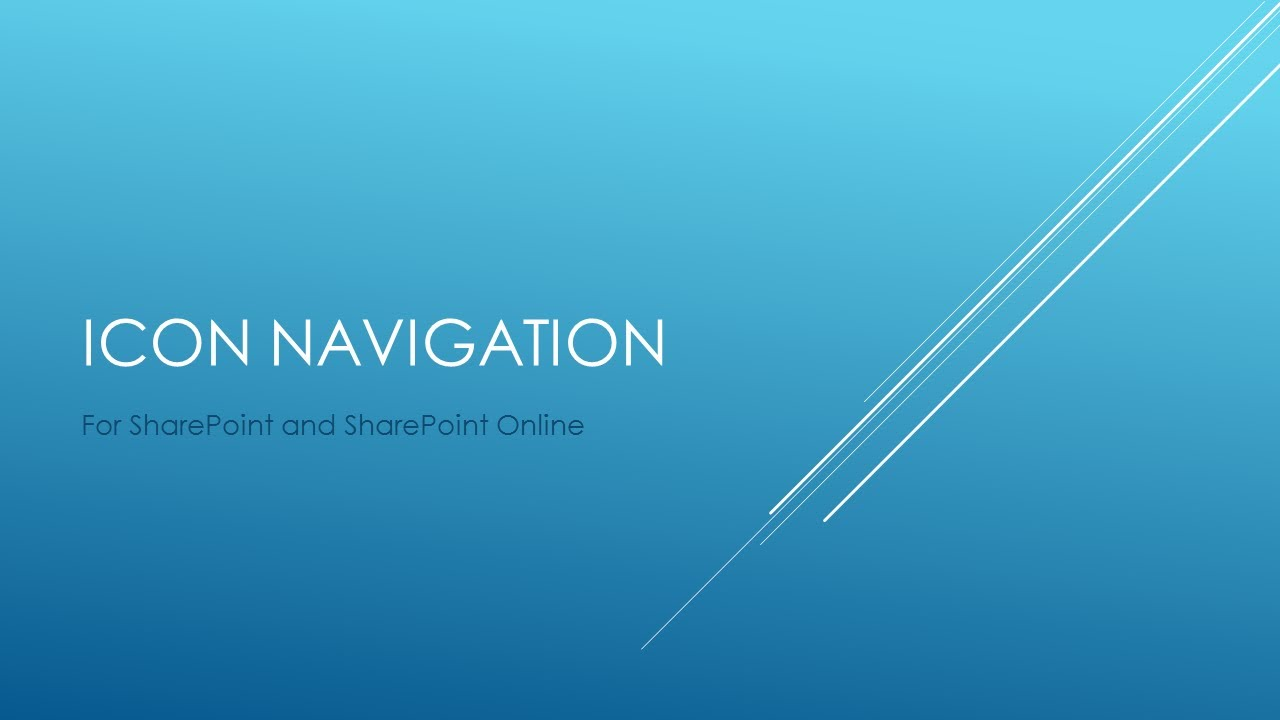 Icon Navigation in Microsoft SharePoint